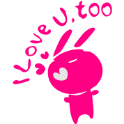 I love you,too Pink bunny