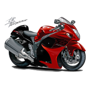 Suzuki Hayabusa Red Bike