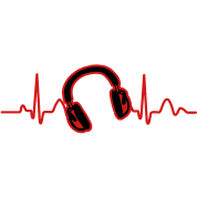 Lines of Heart, Heart Pulz line electrocardiogram with headphones headphones