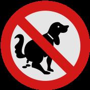 NO Dog Poop Sign