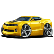 2010-12 Chevy Camaro Yellow-Black Car