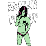 Sexy Zombie Pin Up