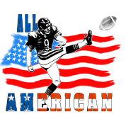 All American Football Field Goal Kicker