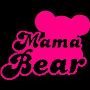 MAMA bear (new) with teddy bear shape