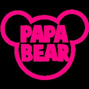 PAPA BEAR in a teddy shape super cute!
