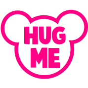 HUG ME romance teddy bear outline shape