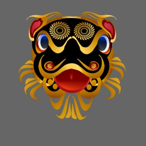 Black 'n Gold Chinese Dragon Face