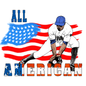 All American BaseBall player Catcher