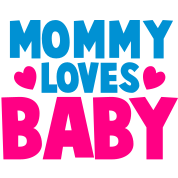 MOMMY LOVES BABY cute mom shirt