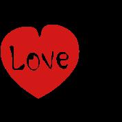 Love U  txt red heart