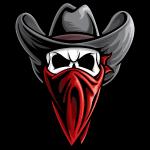 Cowboy Bandit Skull