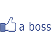 Facebook Like (a boss)