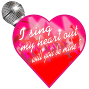 I sing my heart out will you be mine valentine Mic