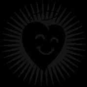 Happy Heart in Shine 1c