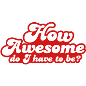HOW AWESOME DO I HAVE TO BE?