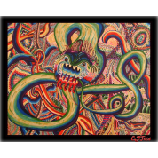 Dragon Erupted! Color Doodle with logo