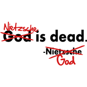 God / Nietzsche is dead. Vector Design