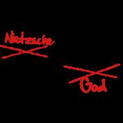 God / Nietzsche is dead. Vector Design
