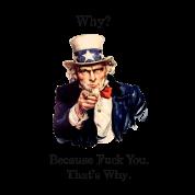 Uncle Sam says FU.