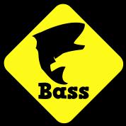 bass fishing fish crossing sign