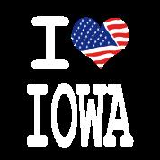 i love iowa - white
