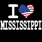 i love mississippi - white