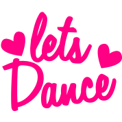 lets dance with cute little love hearts