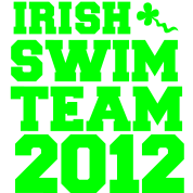 irish swim team year 2012 St Paricks Day design