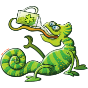 Saint Patrick's Day Chameleon