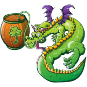 Drunk St Patrick's Day Dragon