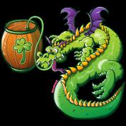 Drunk St Patrick's Day Dragon