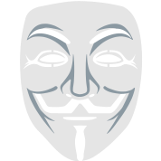 Anonymous/Guy Fawkes mask 2clr