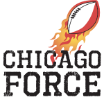 Chicago Force (black) w/ flaming football
