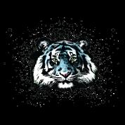 Unisex Blue Tiger - Graffiti Style Paint Splatter Big Cat Graphic Design