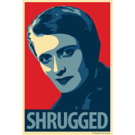 Design ~ Ayn Rand - parody of Obama poster