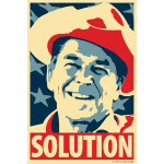 Reagan: Solution - Obama Poster Parody