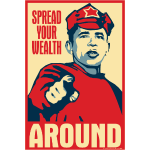 Obama Red Army Soldier: Spread your wealth around