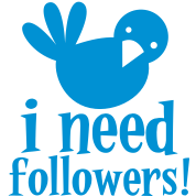 i need followers! Blue tweeter bird