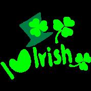 I heart Irish shamrock hat