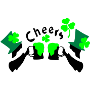 Cheers green beer shamrock irish boys