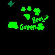 I heart green beer  Irish girl shamrock -2