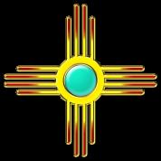 Zia Sun, Zia Pueblo, New  Mexico, Sun Symbol, DD 1