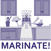 Marinate! in monochrome (blue)