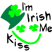 Kiss Me I'm Irish smiley boy shamrock -2