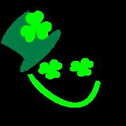 Kiss Me I'm Irish smiley boy shamrock -2