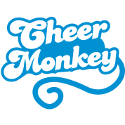cheer monkey with a tail  (Cheerleader shirt design)