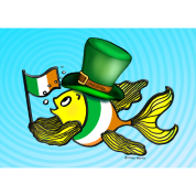 Irish flag fish fabspark Ireland lucky Card