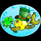 St Patricks Fish with Love, Goldfish , Fabspark ,