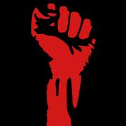 2 color - powerful class war revolution fist iron