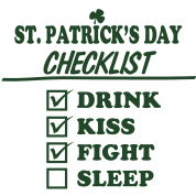 Goon - St. Patrick's Day Checklist (Clean)